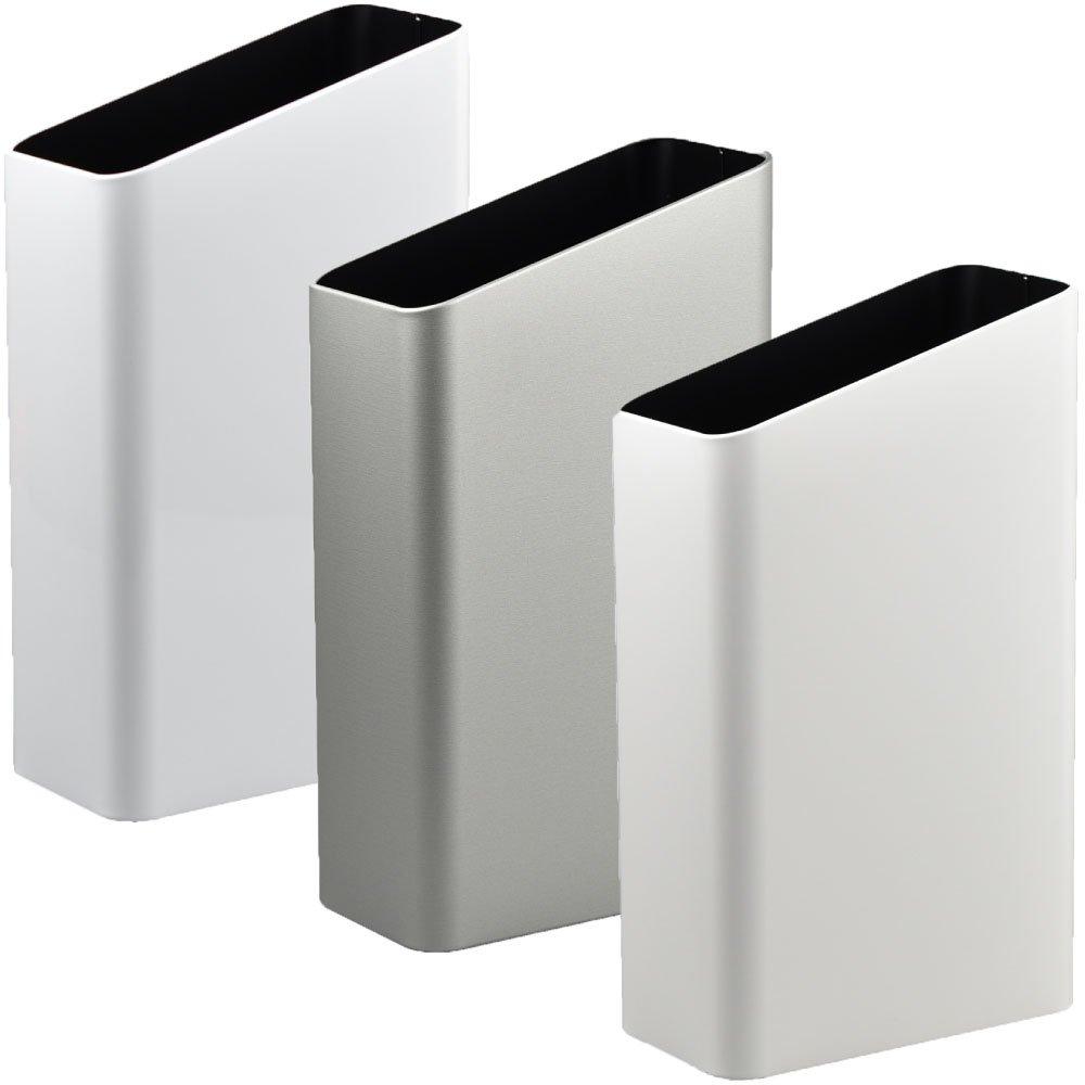 ぶんぶく サイドバケット 大 全9色の中から選べる3個セット ゴミ箱 ごみ箱 ダストボックス おしゃれ 日本製 (ホワイト×シルバーメタリック×マットホワイト) B075GDSP3T ホワイト×シルバーメタリック×マットホワイト ホワイト×シルバーメタリック×マットホワイト