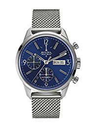 Bulova Men's 63C117 Swiss-Automatic Blue Watch