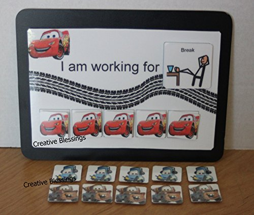 CARS TOKEN BOARD ABA BEHAVIOR REINFORCER FOR AUTISM, ADHD, & ADD Photo #2