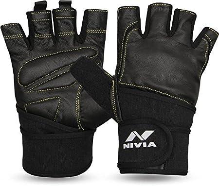 Nivia Venom Sports Gloves (Black) Exercise & Fitness Gloves at amazon