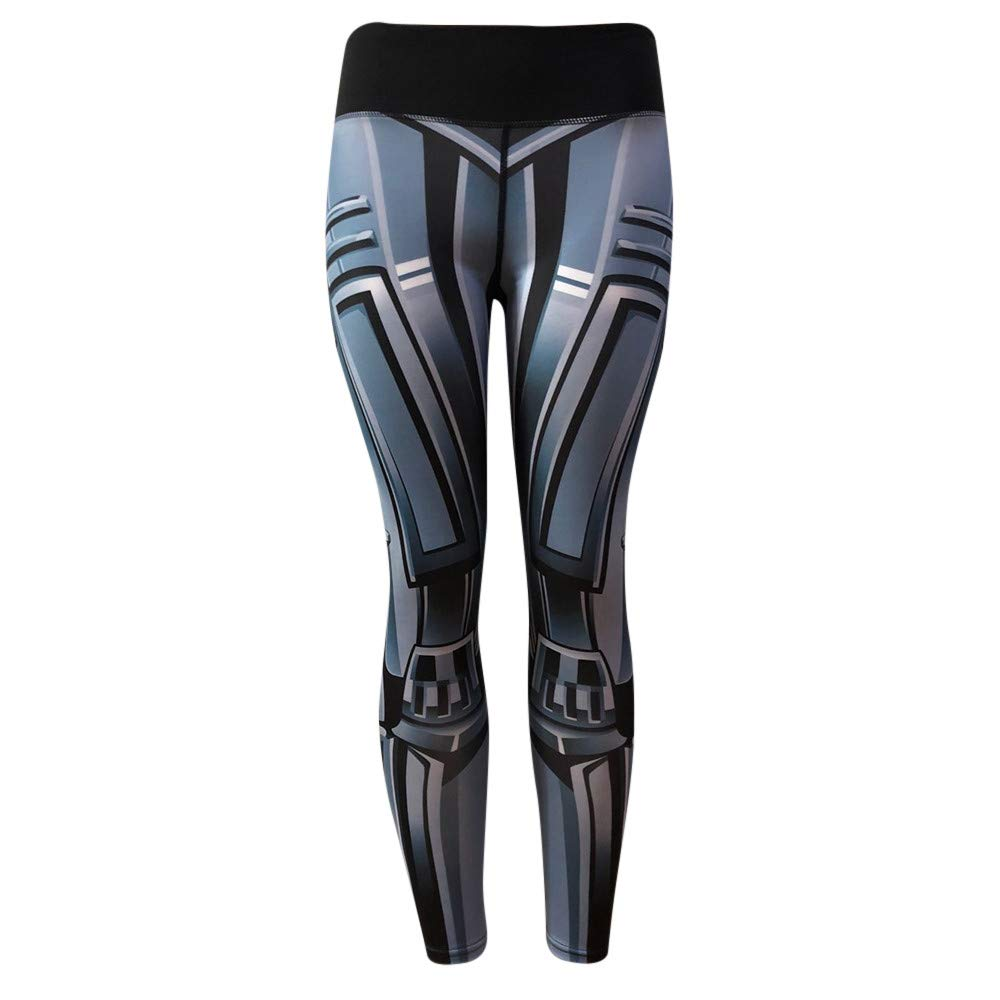 iLUGU Womens Fashion Workout Leggings Fitness Work Out Pants Sports Gym Workout Running Yoga Yoga Athletic Gray