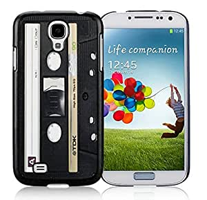Slim Samsung Galary S4 Case Popular Audio Cassette Soft Silicone Black Phone Cover Accessories