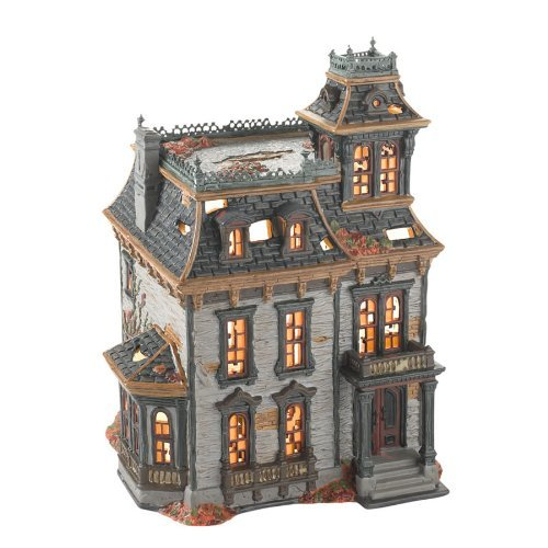 Mordecai Mansion Haunted House Dept 56 Halloween Village Building NEW IN BOX]()