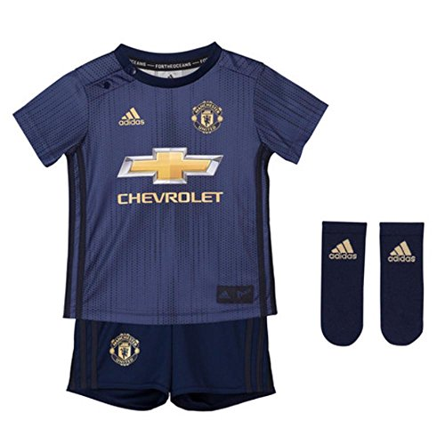 adidas Manchester United 2018/19 Kids Baby Third Kit Blue/Gold - 9-12 -