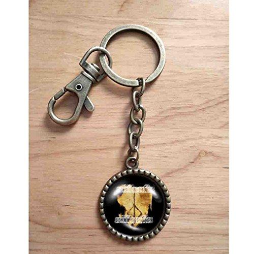 Handmade Key Ring Cute Keyring Picture Art Photo Cute Gift Charm Bloodborne Hunters Mark Keychain Key Chain Car Hunter's Cosplay ()