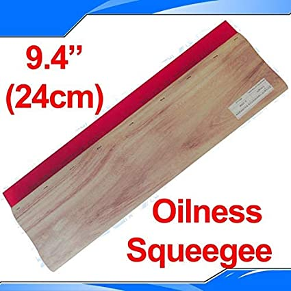 INTBUYING Screen Printing Squeegee 6.3 inches Long Wooden Ink Scraper 75 Durometer 4 inches Wide
