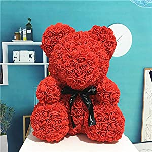 Annibus PE Plastic Artificial Flowers Rose Bear Foam Rose Flower Teddy Bear Birthday Party Spring Decoration 101