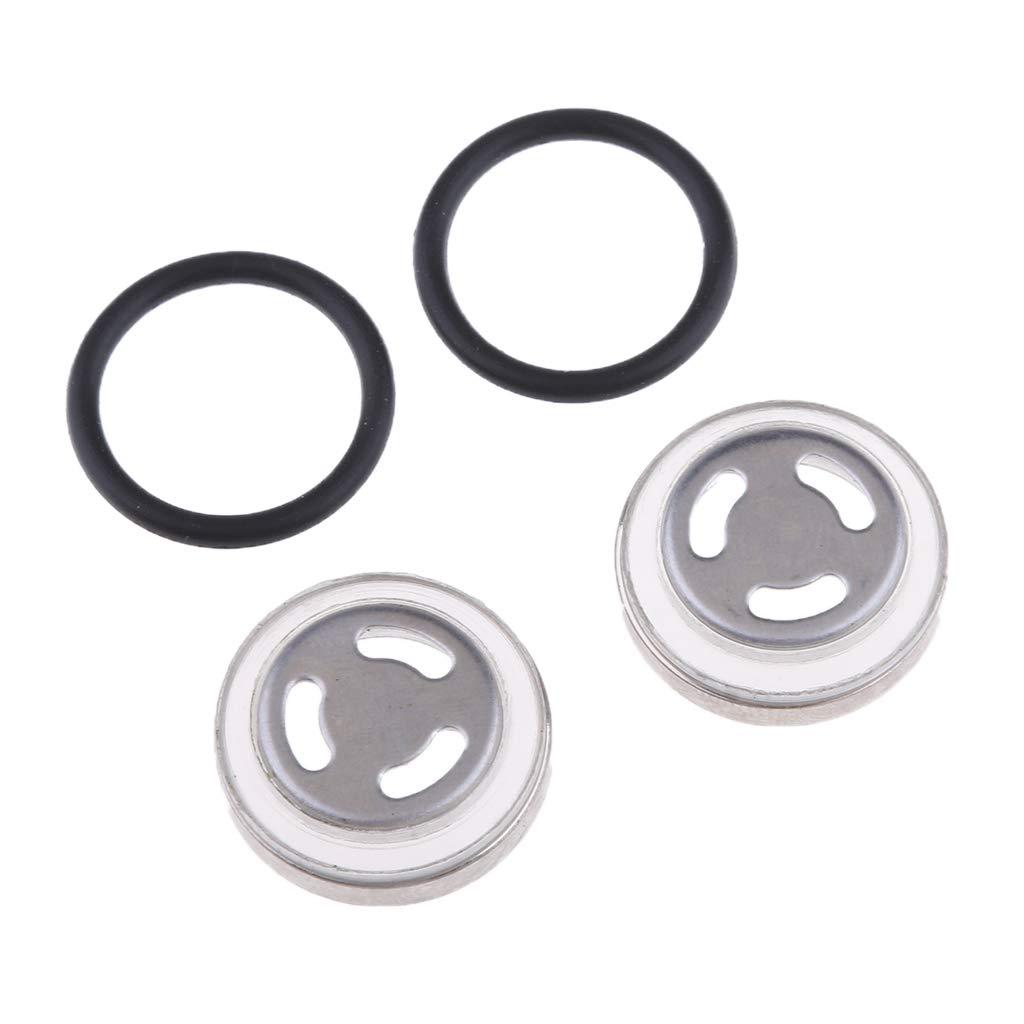 /Φ18mm KESOTO 4X Motorrad Metall Schauglas Set /Ölschauglas Dichtungen f/ür Hauptbremszylinder /Φ12mm