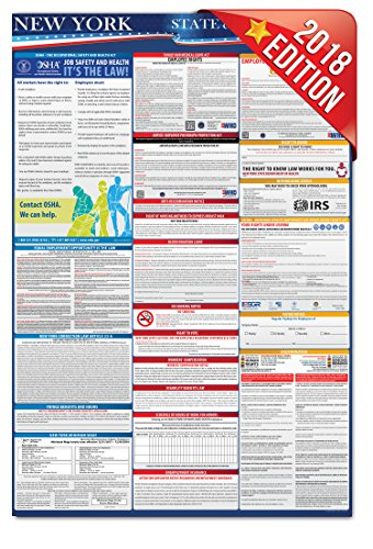 2018 New York Employment Labor Law Poster - State & Federal Compliant - OSHA (Osha Poster)
