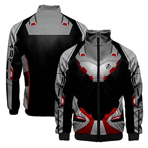 SevenJuly123 Superhero Adult Baseball Jacket Pullover/Zip up Casual Coat Cosplay Costume L ()
