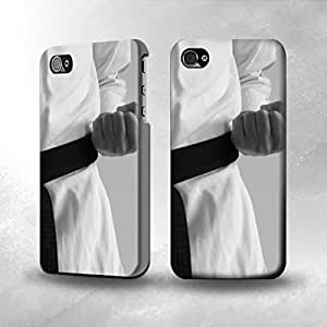 Apple iPhone 5 / 5S Case - The Best 3D Full Wrap iPhone Case - Black Belt Karate