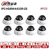 Dahua 4MP IP Camera 8PCS IPC-HDBW4433R-ZS 2.7-12mm Varifocal Lens IP PoE IR 50m Network Dome Camera International Version