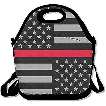 bea47e348570 Amazon.com: Best4UZ Firefighter Thin Red Line Flag Lunch Box Bags ...