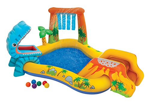 - Intex Dinosaur Inflatable Play Center, 98in X 75in X 43in, for Ages 2+