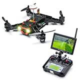 Eachine Racer 250 FPV Quadcopter Drone with HD Camera Eachine I6 2.4G 6CH Transmitter 7 Inch 32CH Monitor RTF Mode 2