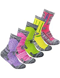 5 Pairs Women's Wicking Cushion Multi Performance Hiking...