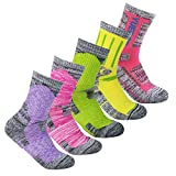 YUEDGE 5Pack Women's Antiskid Wicking Outdoor Multi Performance Hiking Cushion Socks