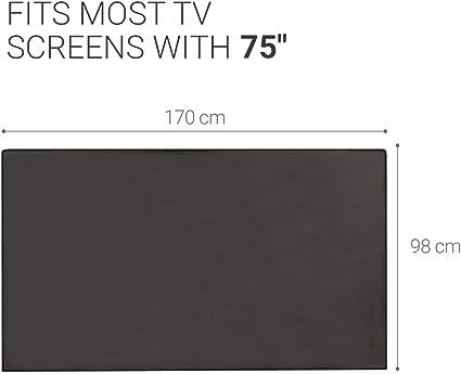 Gris fonc/é kwmobile Housse /écran Ordinateur Compatible avec 55 TV