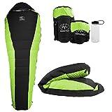Outdoor Vitals Atlas 30°F Lightweight Down Sleeping Bag with Compression Sack & (Green (30°F), Regular)