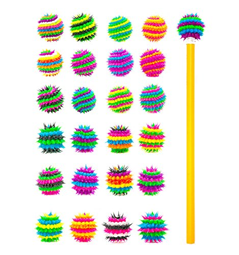 Pencil Toppers for Kids Girls Boys Students - Silicone Spiky Pencil Tops - Fun Fidget Sensory Aid Pencil Toppers - BPA,Phthalate,Latex Free (24 Pcs Spiral & (Pencil Topper)