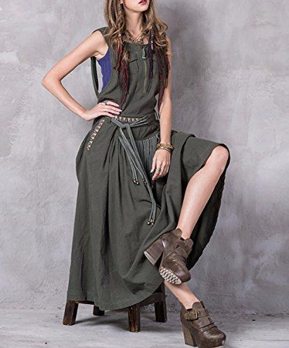Partykleid Arm Retro Kleid Maxi LHA8206 A Linie DISSA Kleider Grün Damen Ohne qZASw