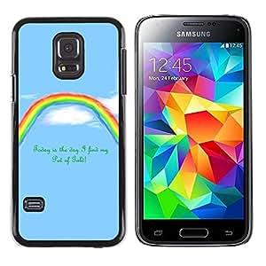Caucho caso de Shell duro de la cubierta de accesorios de protección BY RAYDREAMMM - Samsung Galaxy S5 Mini, SM-G800 - Rainbow Pot Of Gold motivación