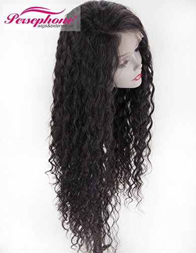 Persephone Real Looking Pre Plucked 360 Lace Wig with Baby Hair 150% Density Brazilian Curly Lace Front Human Hair Wigs for Black Women 14inches Natural Brown Color by Persephone Lace Wig