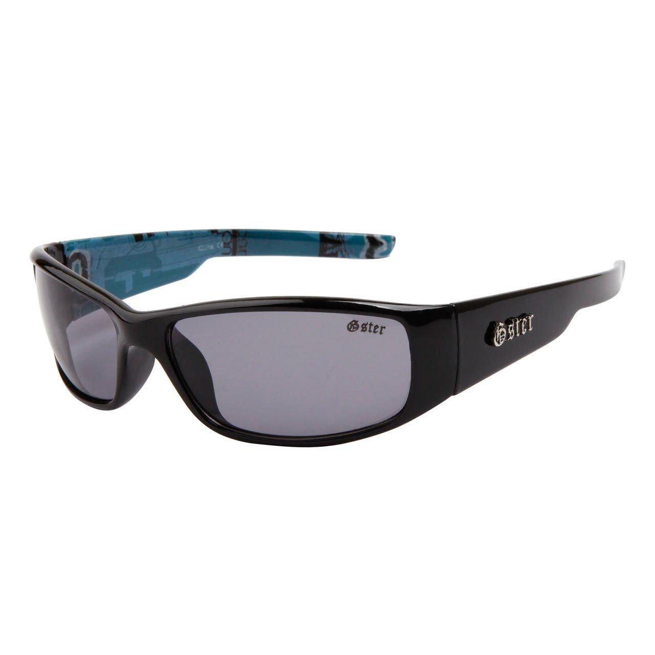 lunettes de soleil sport cyclisme vélo vtt homme femme mixte gs500 (monture noir mat verres gris , largeur:130mm hauteur:35mm)