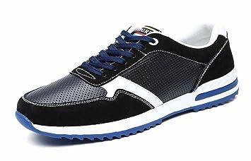 Chaussures de sport de course pour hommes surface respirante en maille, chaussures de course légères, chaussures de sport de printemps et d'été ( Color : Blue , Taille : 40 )