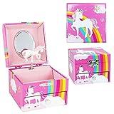 Rainbow Unicorn Jewlrey Box Pink - Novelty Toy by Pink Poppy (MJB3021P)