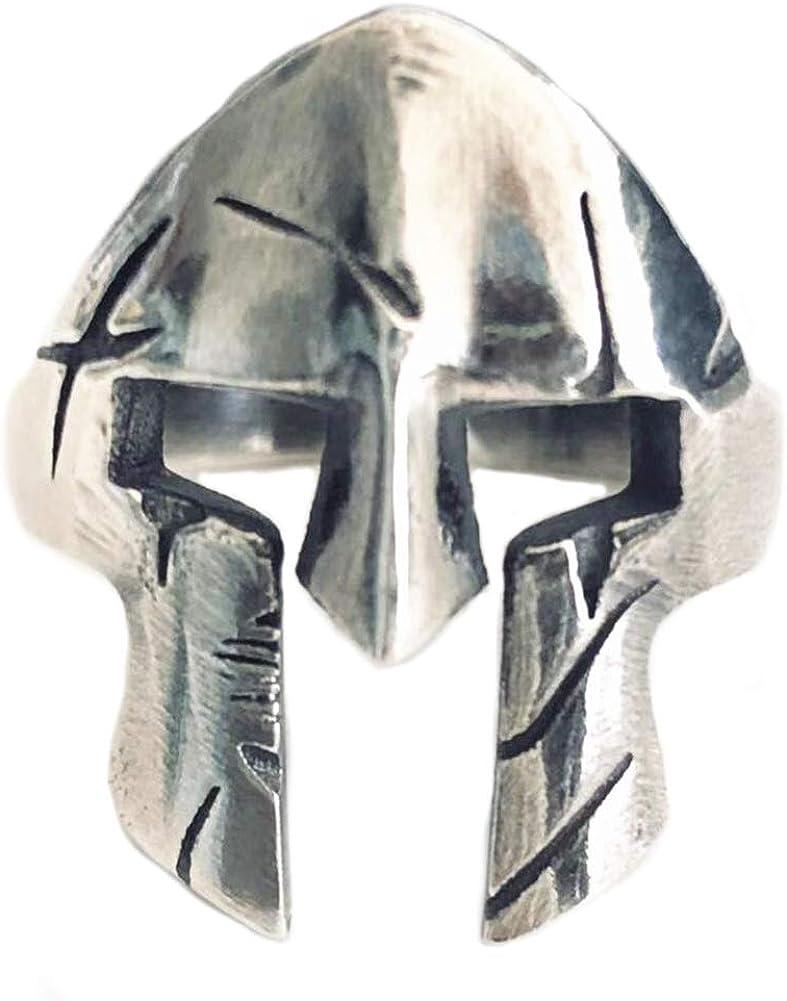 Helen de Lete Original Anillo ajustable de plata de ley 925 con casco de guerrero espartano clásico para hombre: Amazon.es: Joyería