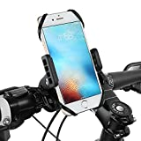 siroflo Bike Phone Mount, Bicycle Holder, Universal Anti-Shake and Stable Cradle Clamp Bike Mount 360° Rotation, Ideal for iOS Android Smartphone, Boating GPS Stroller, Road Mountain Bike Motorcycle