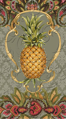 Cypress Home Vintage Pineapple Embossed Paper Guest Towel, 15 (Embossed Guest Towels)
