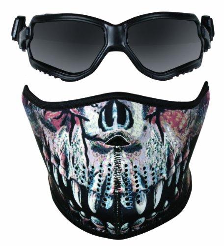 Crosman Elite ForceFlex Airsoft Goggles and Neoprene Predator Print Half Mask -