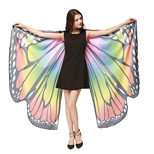 Ladies Fashion with Bracelet Butterfly Wings Shawl Ladies Scarf Draped Clothing Accessories]()