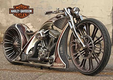 Harley davidson - 3 - Moto - classic bike - bicicleta chopper ...