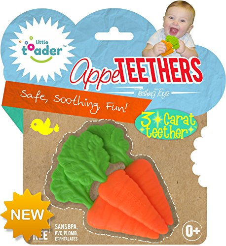 Carrot Rattle - Little Toader Teething Toys, Carrots 3 Carat Appe-Teether
