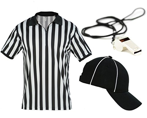 Mato & Hash Mens Referee Shirts/Umpire Jersey with Collar for Officiating + Costumes + More! - RefSet CA2050ZIP S CA2099 V S/M RW1000