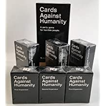 Cards Game Against Humanity Base Pack Set (CA Version) and 1st 2ed 3rd 4th 5th 6th Expansion, CA version