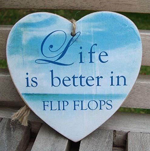 Enid18Bru Life is Better in Flip Flops Beach Plaque Playa ...