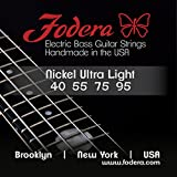 Fodera Electric Bass Guitar Strings, Roundwound 4-String Nickel - 4095 UL