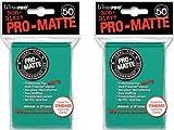 100 Ultra Pro Aqua PRO-MATTE Deck Protectors Sleeves Standard MTG Colors (1, Aqua)