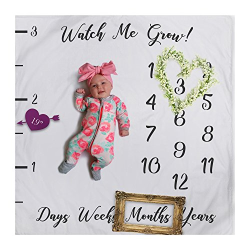 Baby Milestone Blanket Photography Background Prop: growing infants & (Too Soon Costumes)