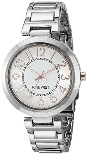 Nine West Women s NW 1893GNRT Easy To Read Dial Gunmetal Bracelet ... 773888e81b