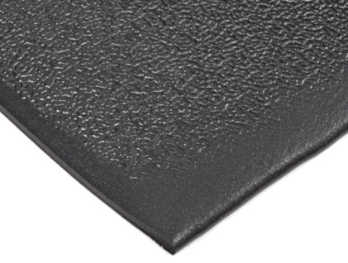 """NoTrax T41 Heavy Duty PVC Safety/Anti-Fatigue Comfort Rest Pebble Foam, For Dry Areas, 2' Width x 3' Length x 9/16"""" Thickness, Coal"""