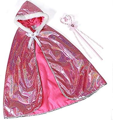Tacobear Princesa Aurora Disfraz Niña Princesa Capucha con Capucha ...