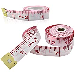 2Pack Body Measuring Ruler Sewing Tailor Tape Measure Soft Flexible - 79 inch/200cm
