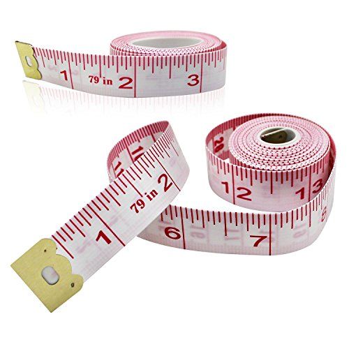 mzd8391-2pack-body-measuring-ruler-sewing-tailor-tape-measure-soft-flexible-79-inch-200cm
