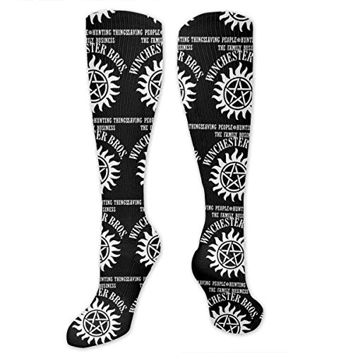 Supernatural Winchester Brothers Knee High Socks For Women And Men,Unisex Socks For Cosplay,Daily Wear