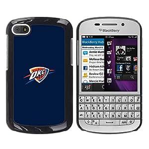 OKC Basket - Metal de aluminio y de plástico duro Caja del teléfono - Negro - BlackBerry Q10